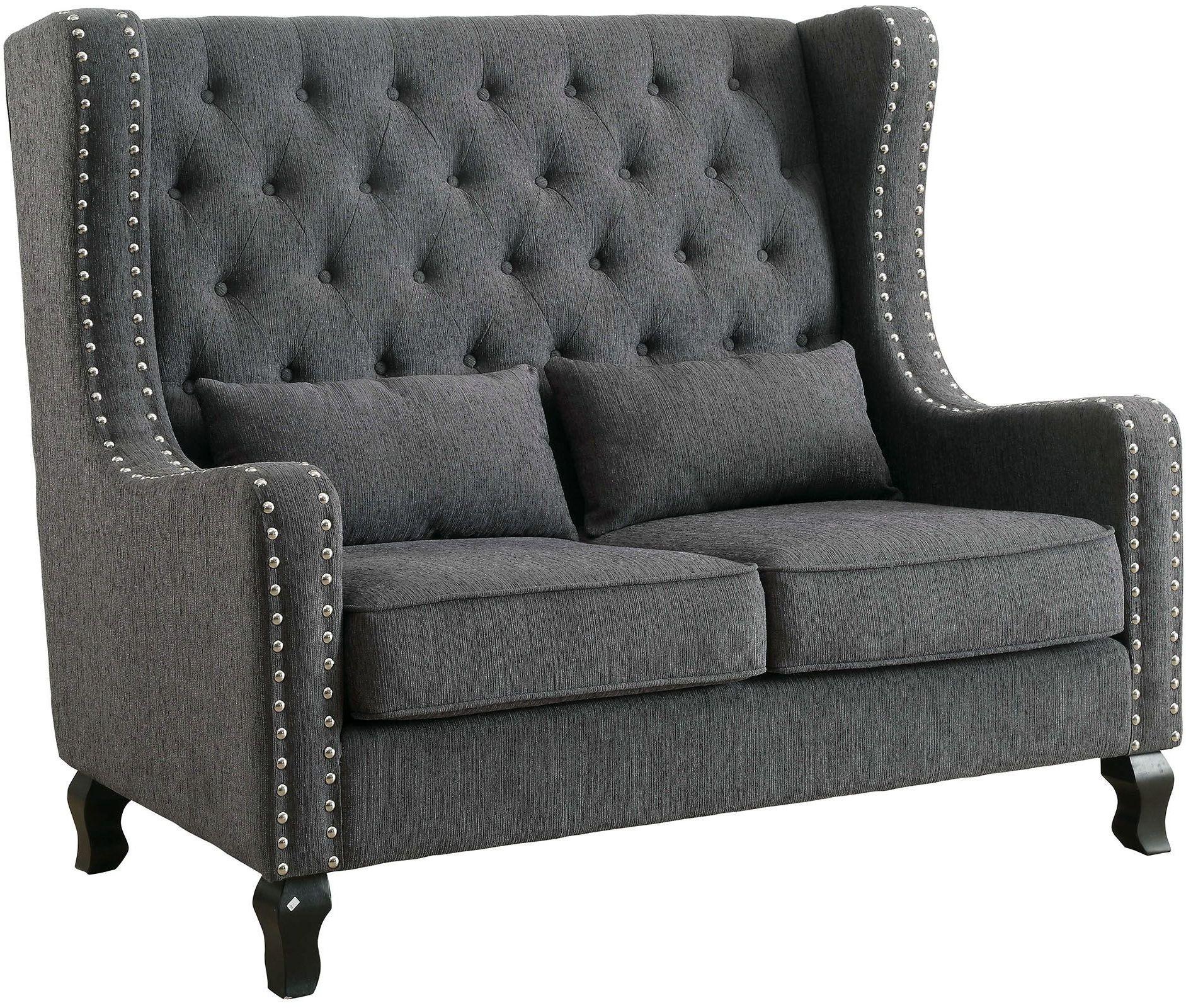 Alicante Gray Loveseat Bench Cm Bn6449gy Pk Furniture Of