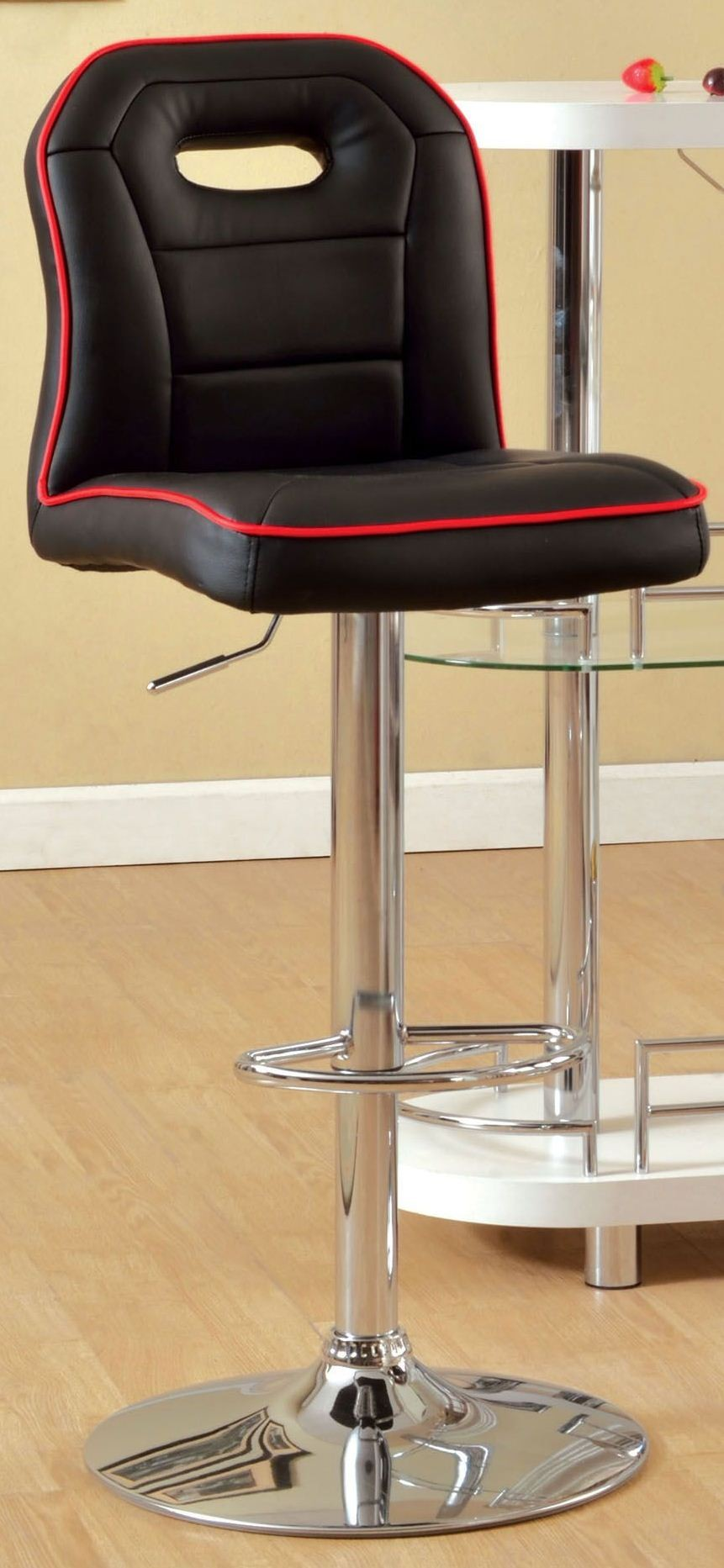 Colton Black Pu Bar Stool From Furniture Of America Cm