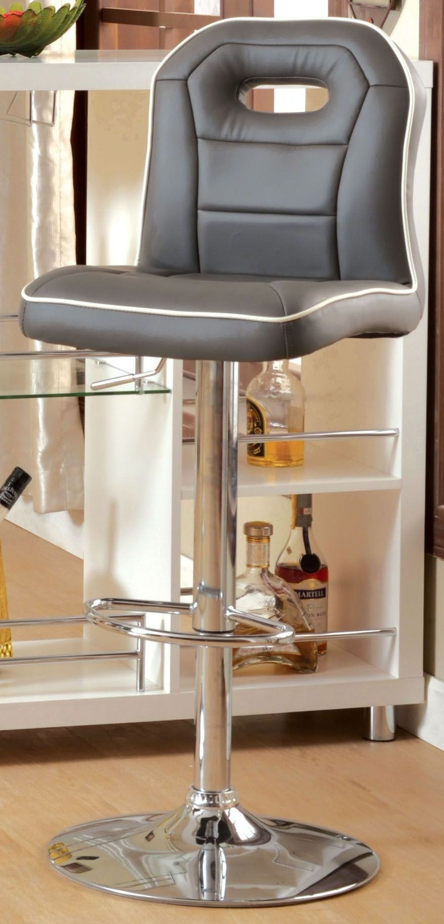 Colton Gray Pu Bar Stool From Furniture Of America Cm