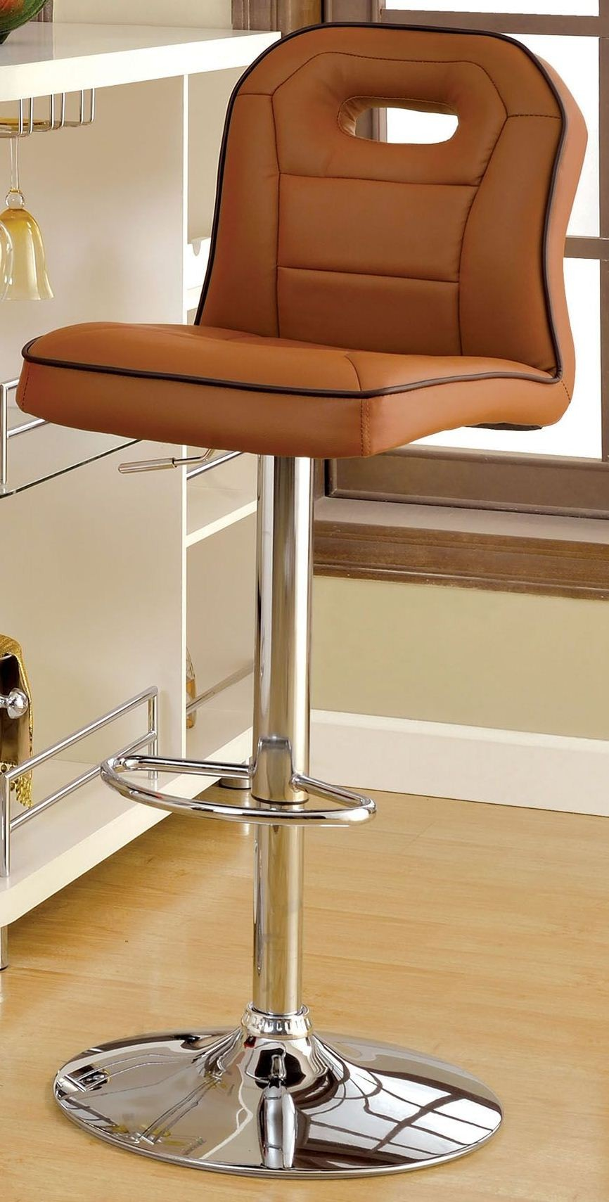 Colton Camel Pu Bar Stool From Furniture Of America Cm