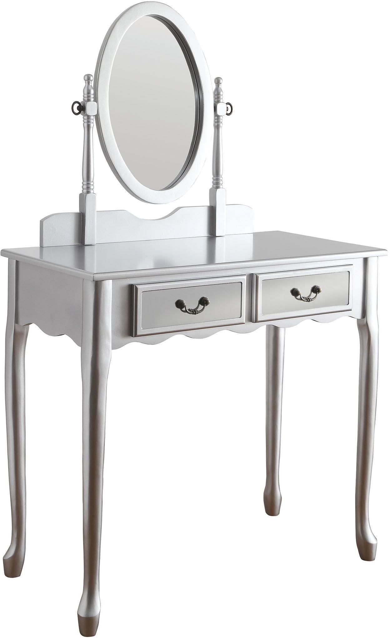 Silver vanity stool