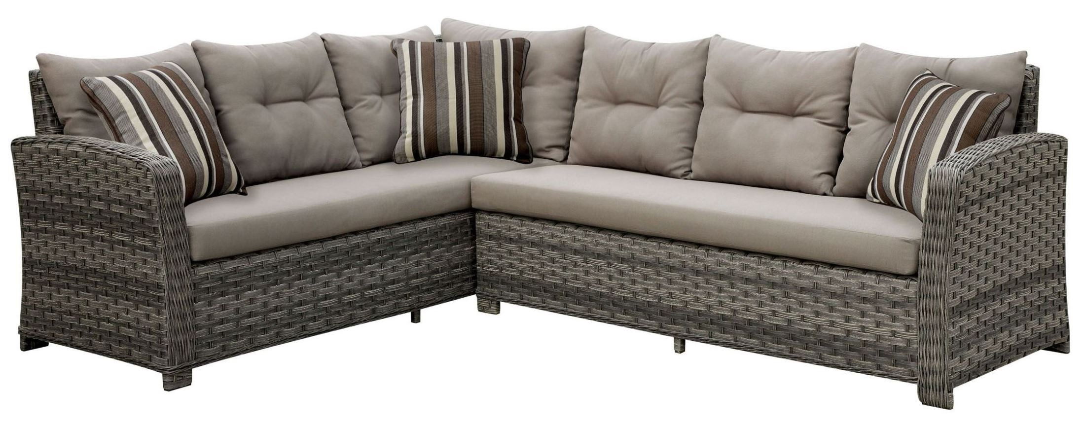Moura Patio Sectional with Table from Furniture of America CM OS1816 SET