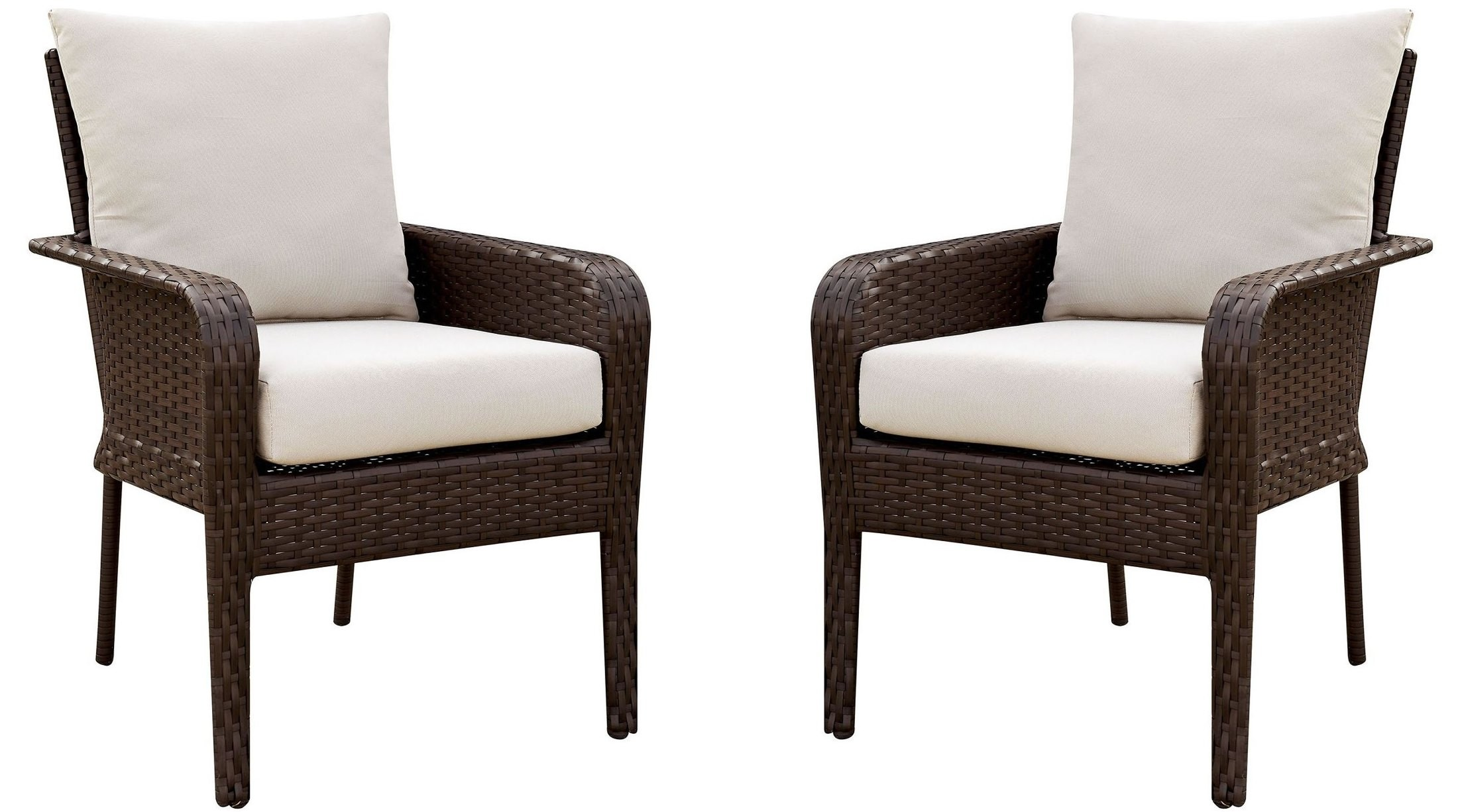 Shakira Ivory and Espresso Arm Chair Set Of 2 CM OT1849  : cm ot1849 ac wb1 from colemanfurniture.com size 2200 x 1226 jpeg 323kB