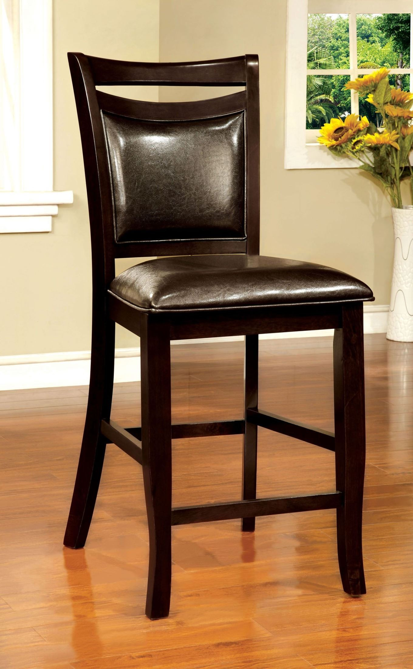 Counter Height Espresso Chairs : Woodside II Espresso Counter Height Chair Set of 2 from Furniture of ...