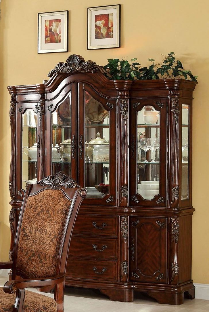 Cromwell antique cherry formal dining room set from for Cherry dining room set