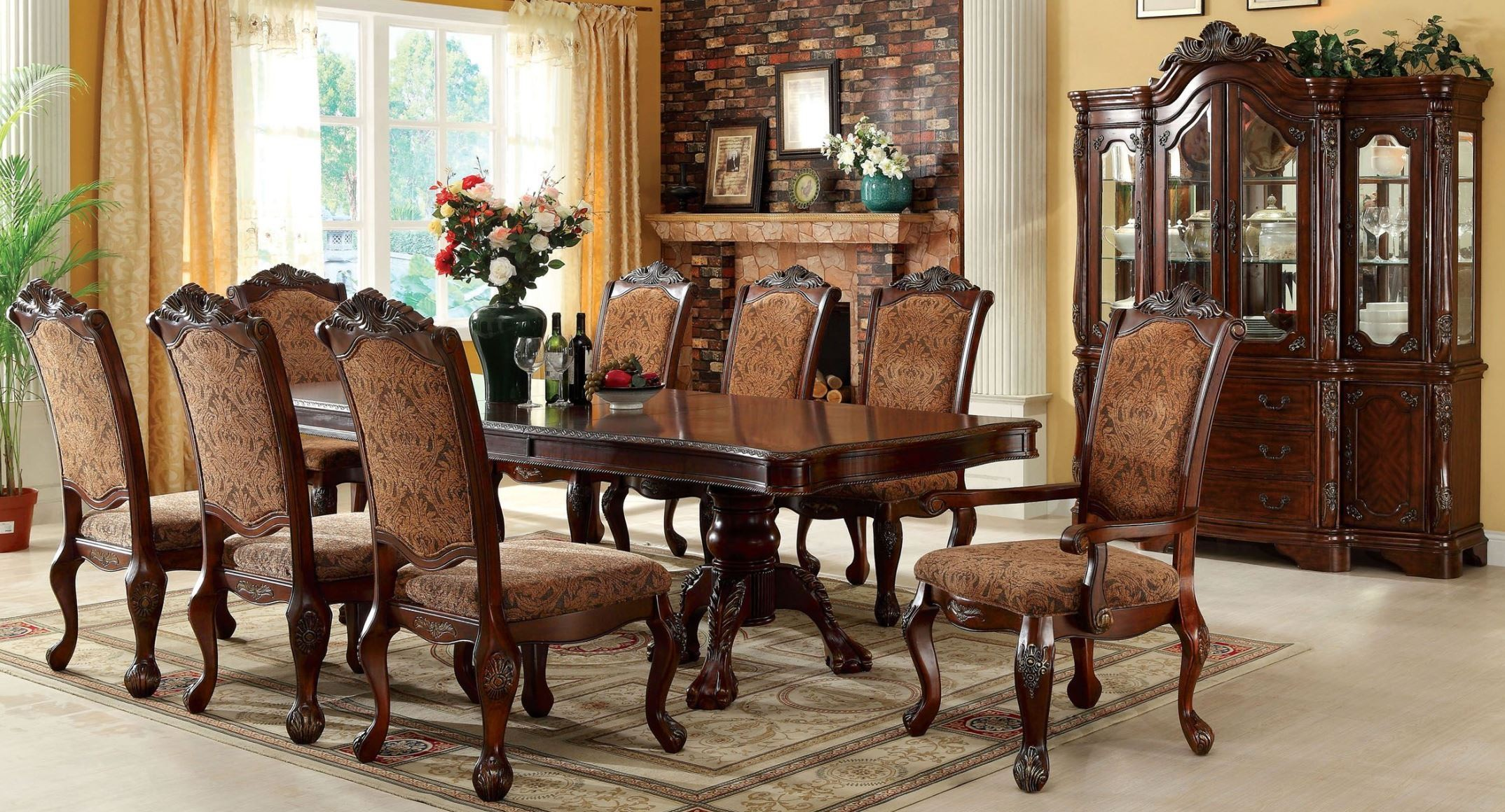 Cromwell antique cherry formal dining room set from for Cherry formal dining room sets