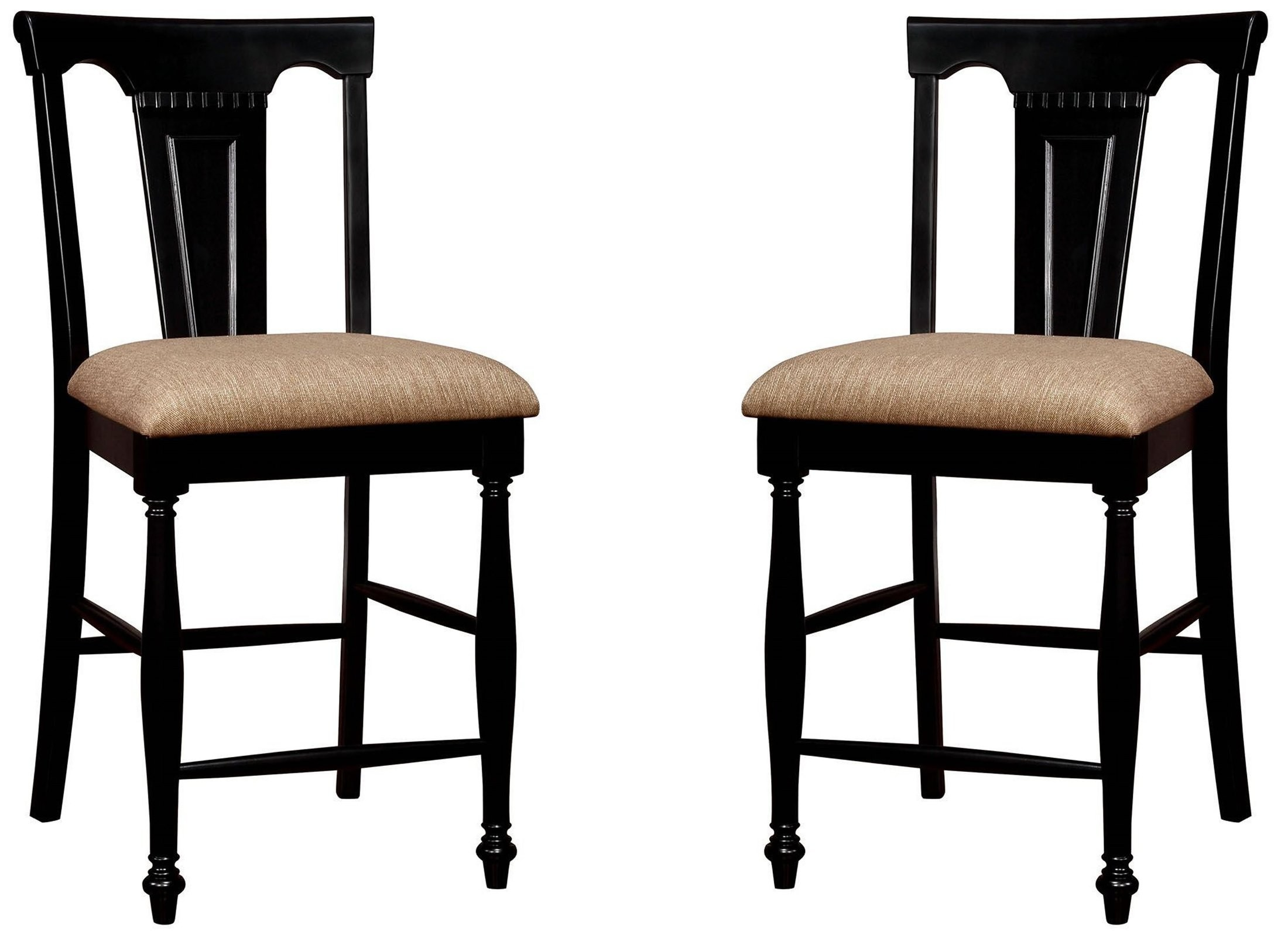 Sabrina Cherry Black Counter Height Dining Room Set
