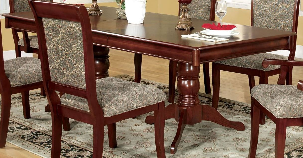 St Nicholas I Rectangular Extendable Pedestal Dining Table From