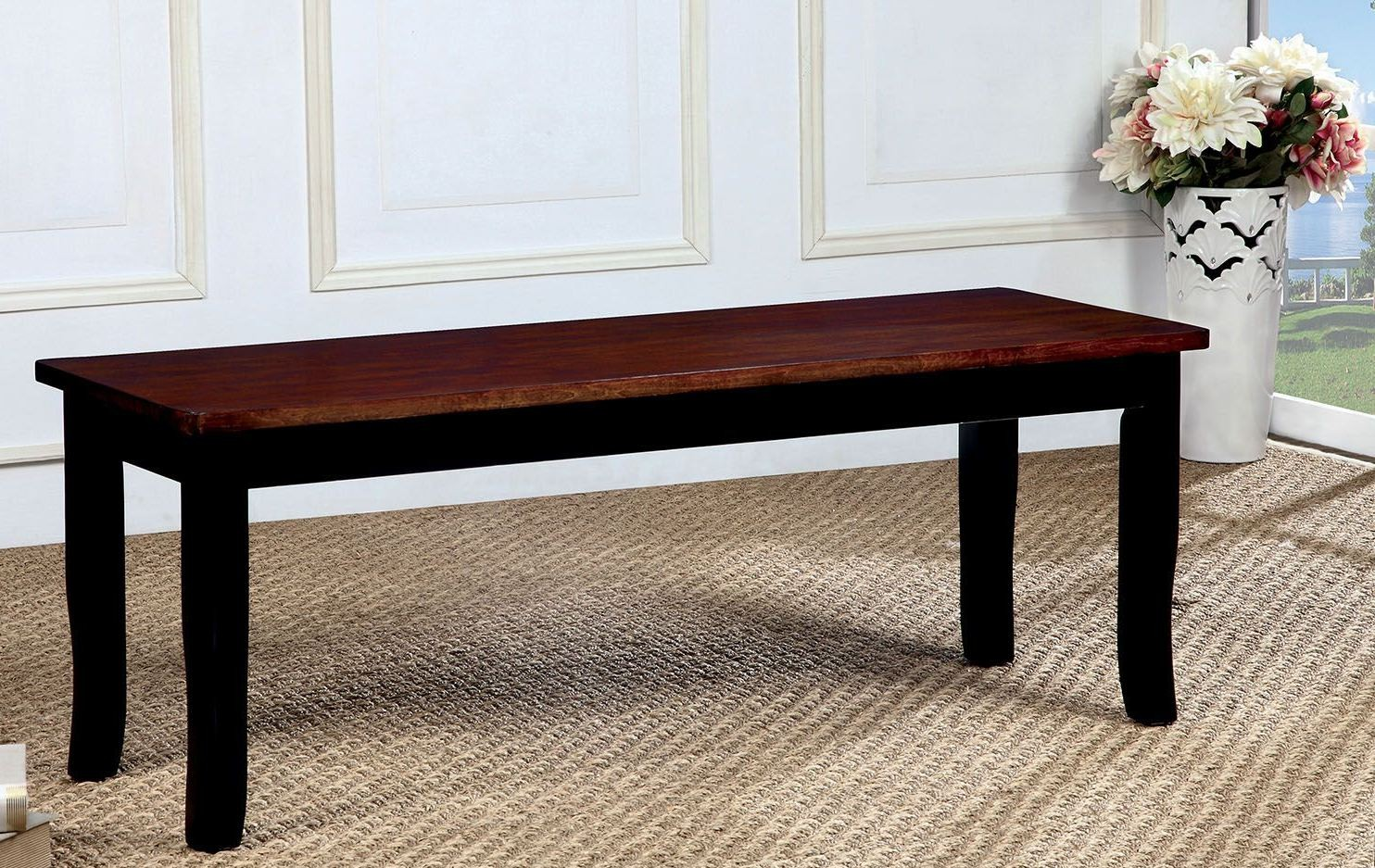 Dover Black And Cherry Bench Cm3326bc Bn Furniture Of