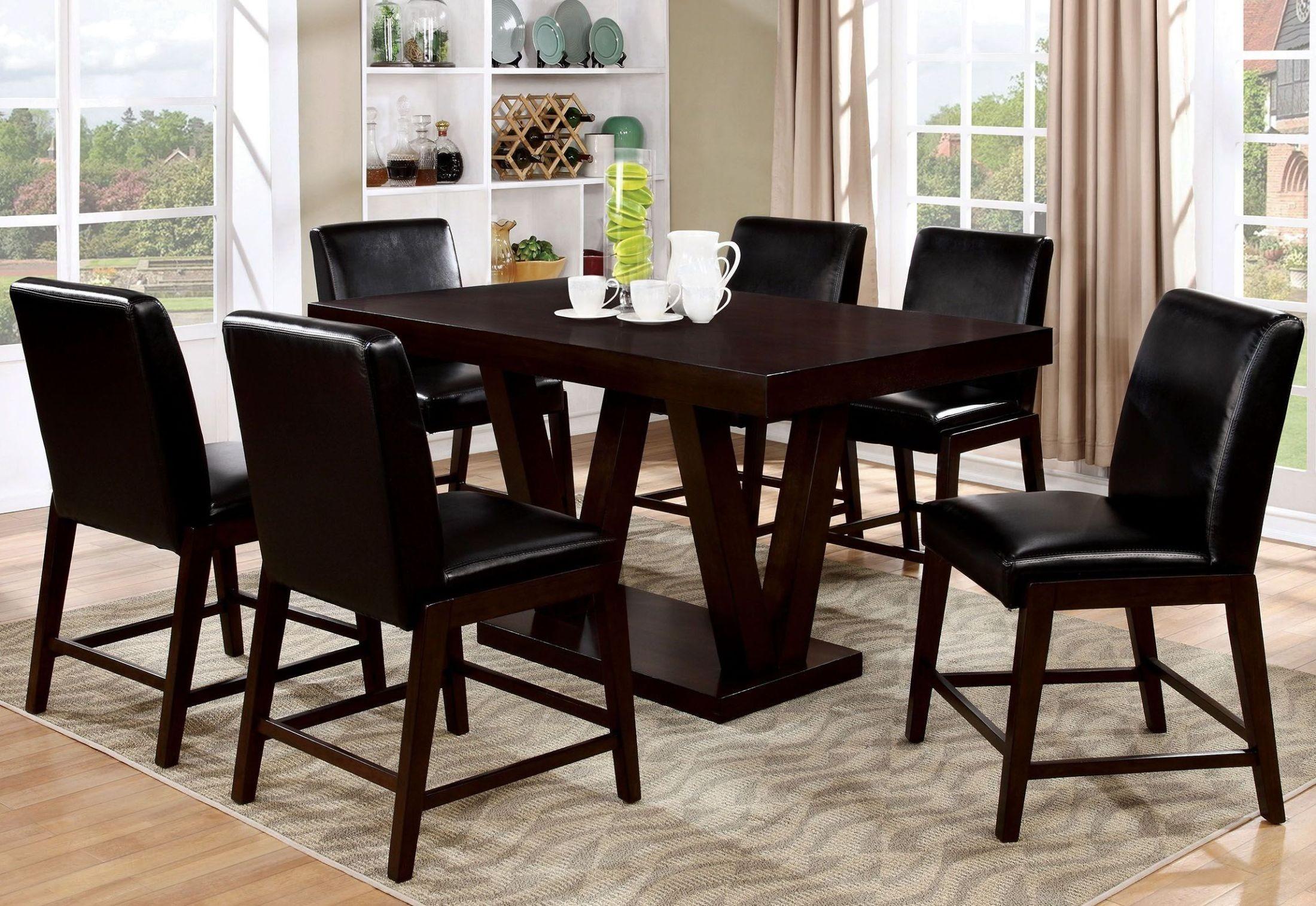 belinda ii espresso counter height dining room set