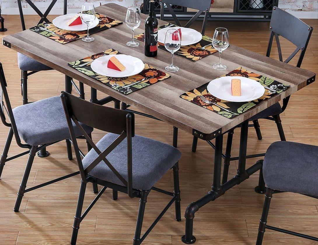brixton i antique black rectangular dining table cm3365t furniture of america. Black Bedroom Furniture Sets. Home Design Ideas