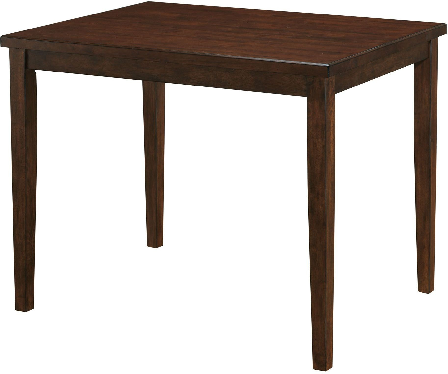 Marten brown cherry square counter height dining table for Cherry dining table