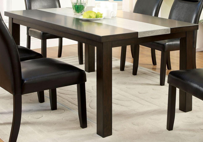 leonard i concrete insert dining room set from furniture of america cm3416t coleman furniture. Black Bedroom Furniture Sets. Home Design Ideas