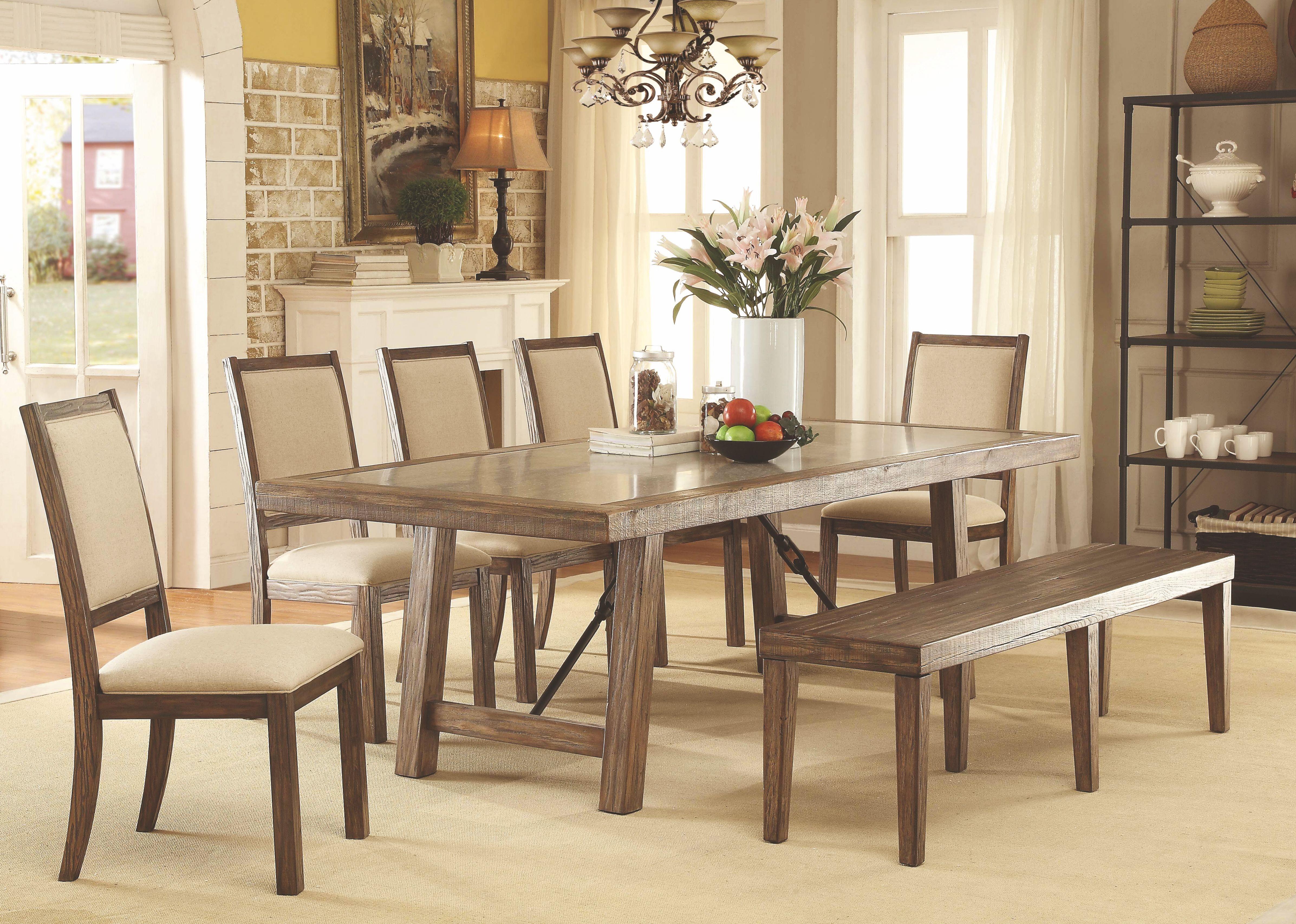 colettte rustic oak rectangular dining room set cm3562t furniture of america. Black Bedroom Furniture Sets. Home Design Ideas