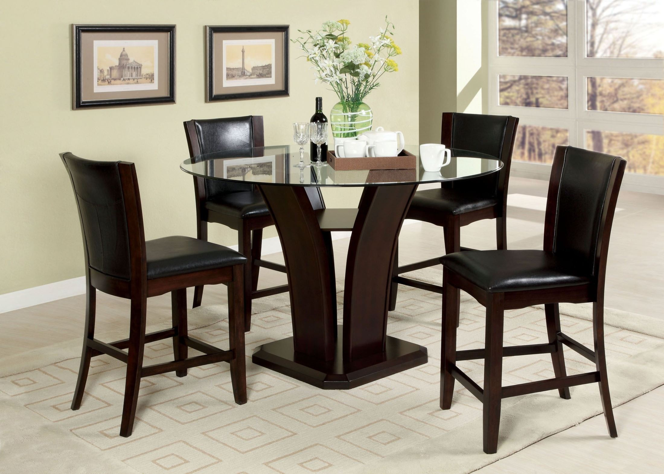 Counter Height Espresso Chairs : Manhattan III Espresso Counter Height Chair Set of 2 from Furniture of ...