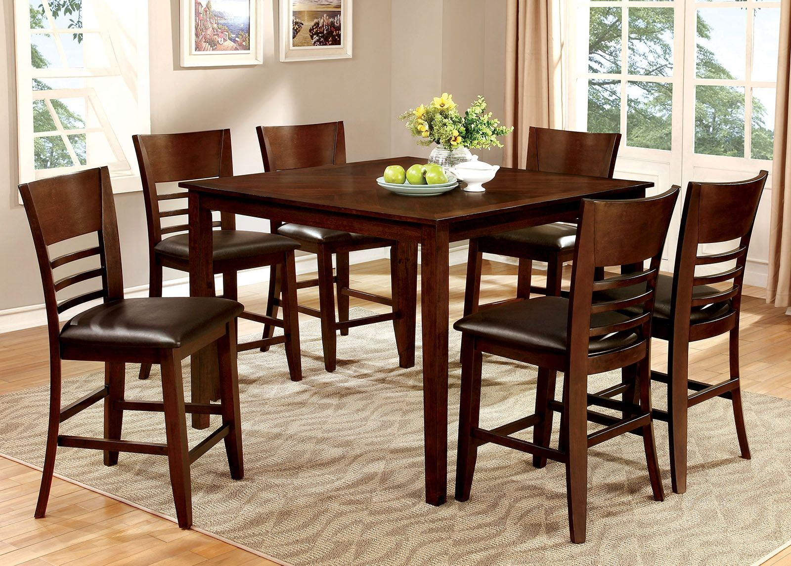 Hillsview ii 7 piece counter height dining room set for 7 piece dining room set counter height