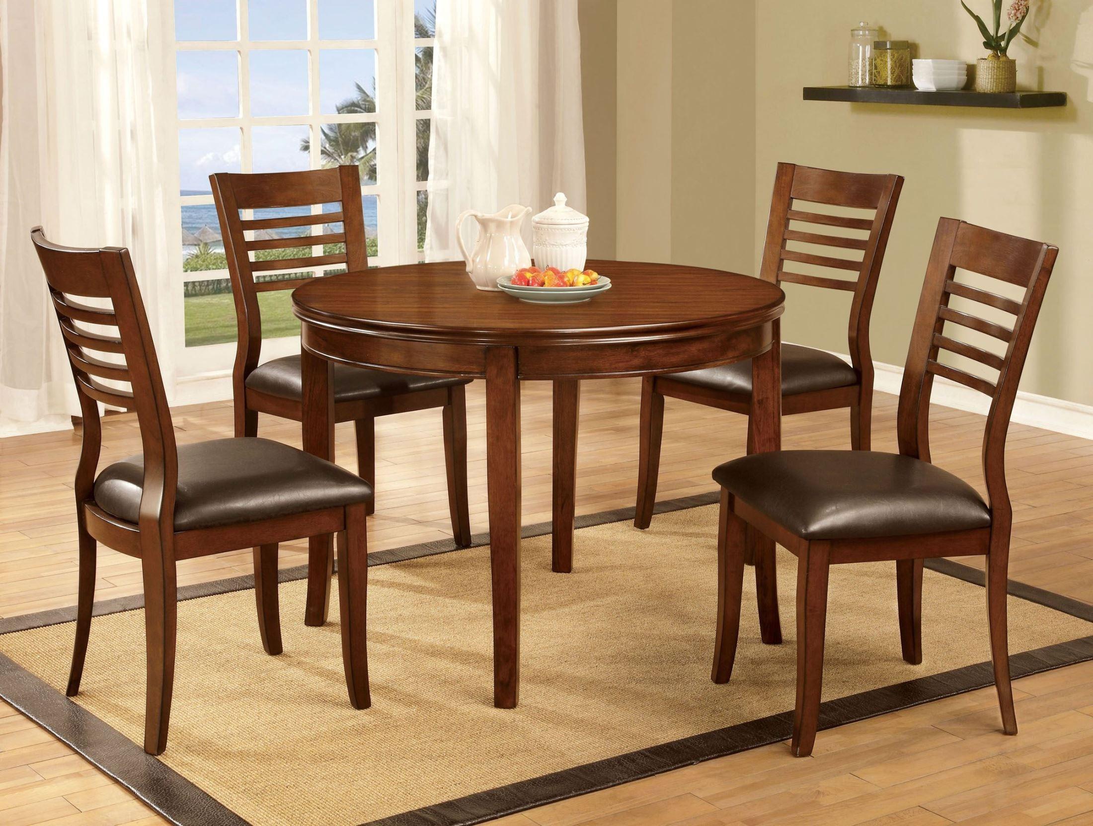 dwight i medium oak round dining room set cm3988rt furniture of america. Black Bedroom Furniture Sets. Home Design Ideas