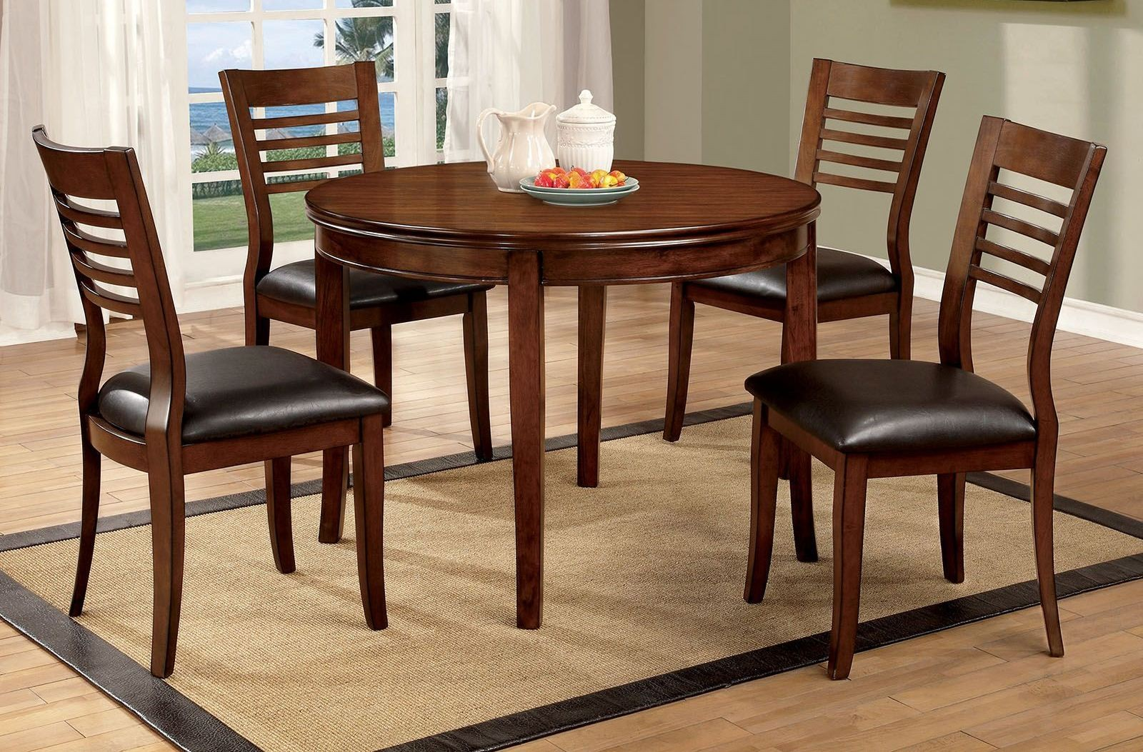 Dwight i gray 48 round dining room set cm3988rt 48 for Dining room tables 48 round