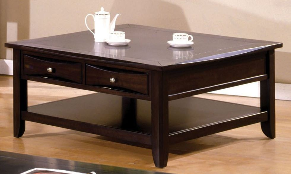 Baldwin Espresso Square Cocktail Table from Furniture of