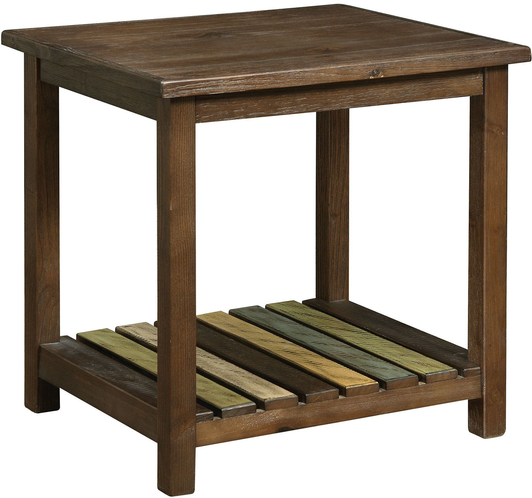 Very Impressive portraiture of Whitwell Brown Cherry End Table CM4445E Furniture of America with #8D723E color and 1810x1697 pixels