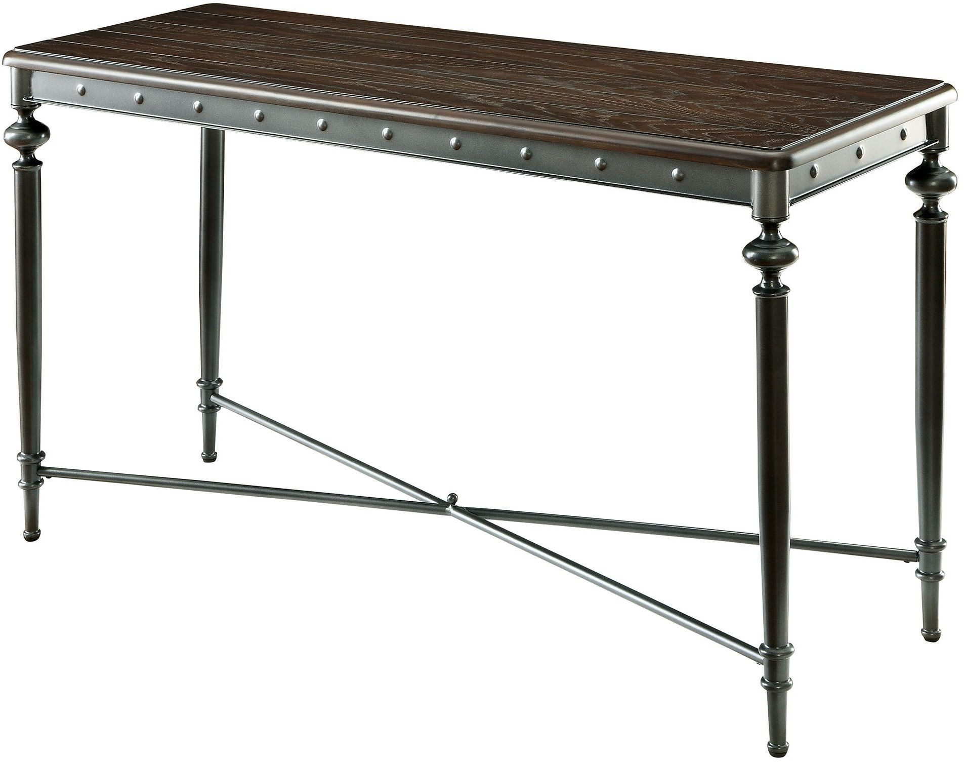 Ballina matte dark grey sofa table cm4460s furniture of for Sofa table grey