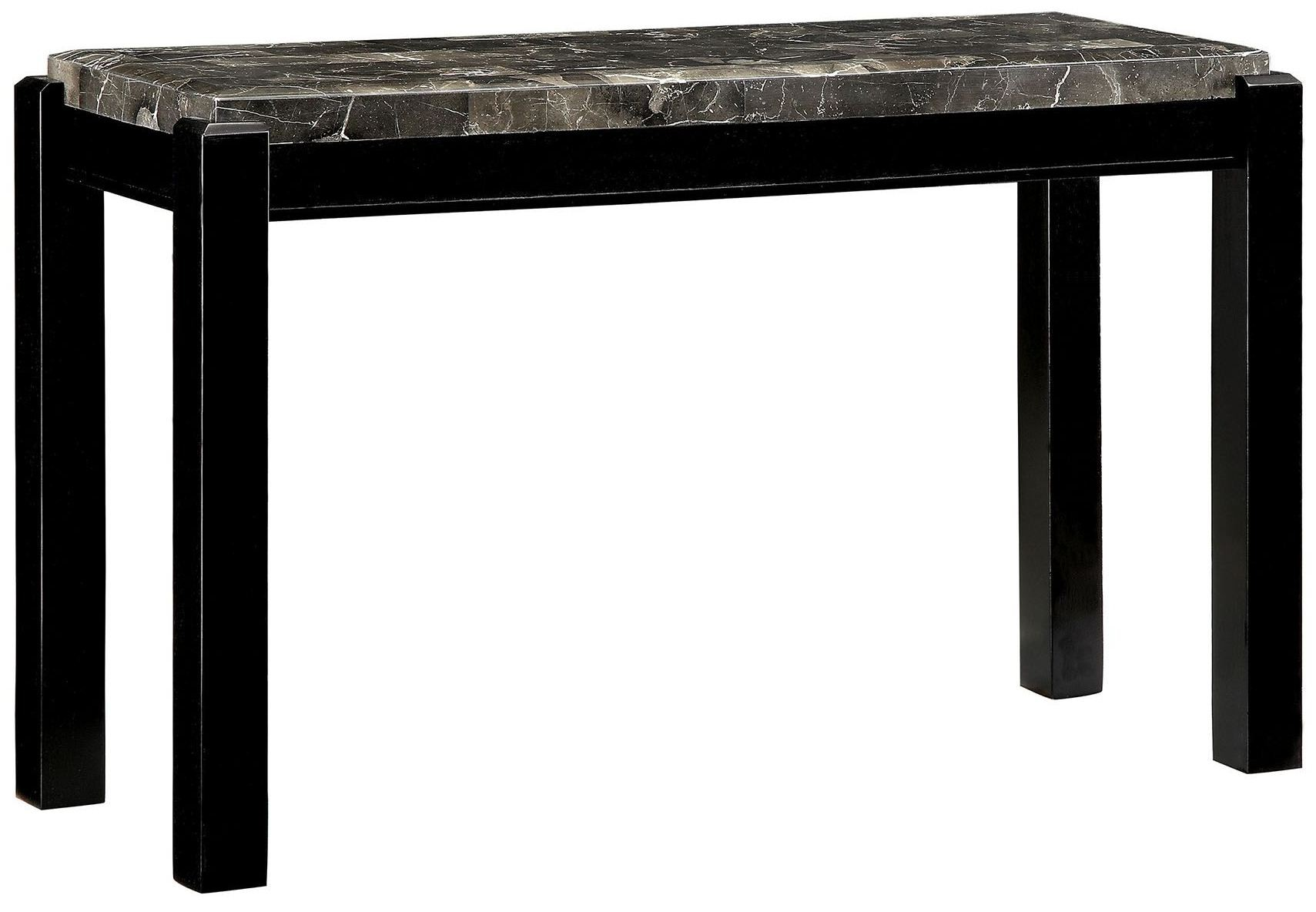 Gladstone Gray Marble Top Sofa Table CM4823BK S