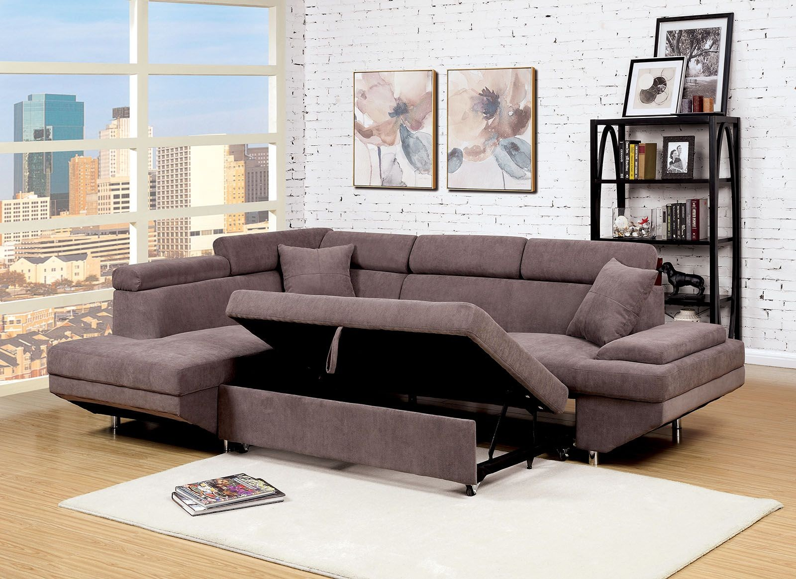 Foreman Brown Sectional Cm6125br Furniture Of America