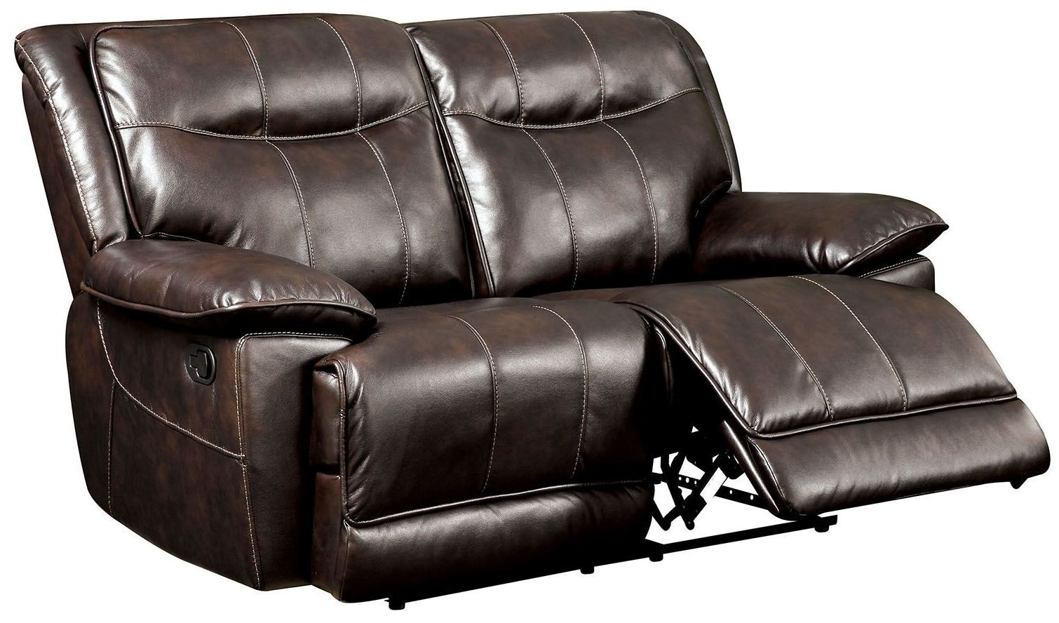 Dolton Brown Reclining Loveseat Cm6128br Lv Furniture Of America
