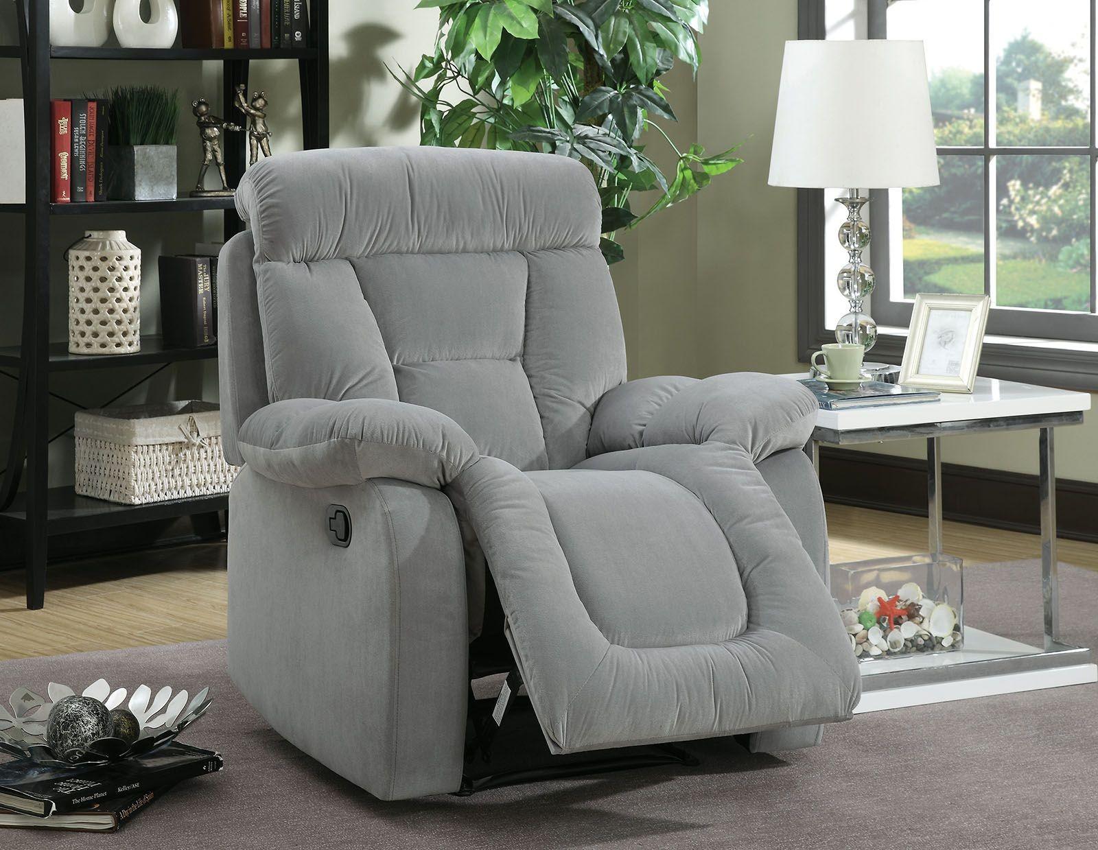 Bloomington Gray Reclining Living Room Set Cm6129gy Sf