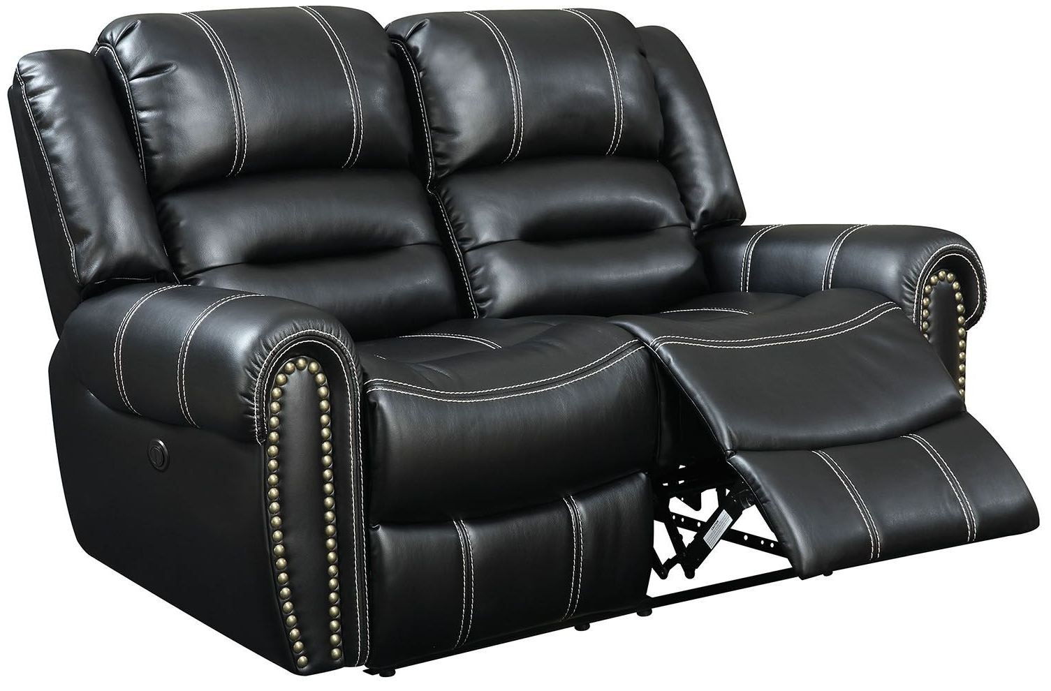 Frederick Black Power Reclining Loveseat Cm6130 Lv Pm Furniture Of America