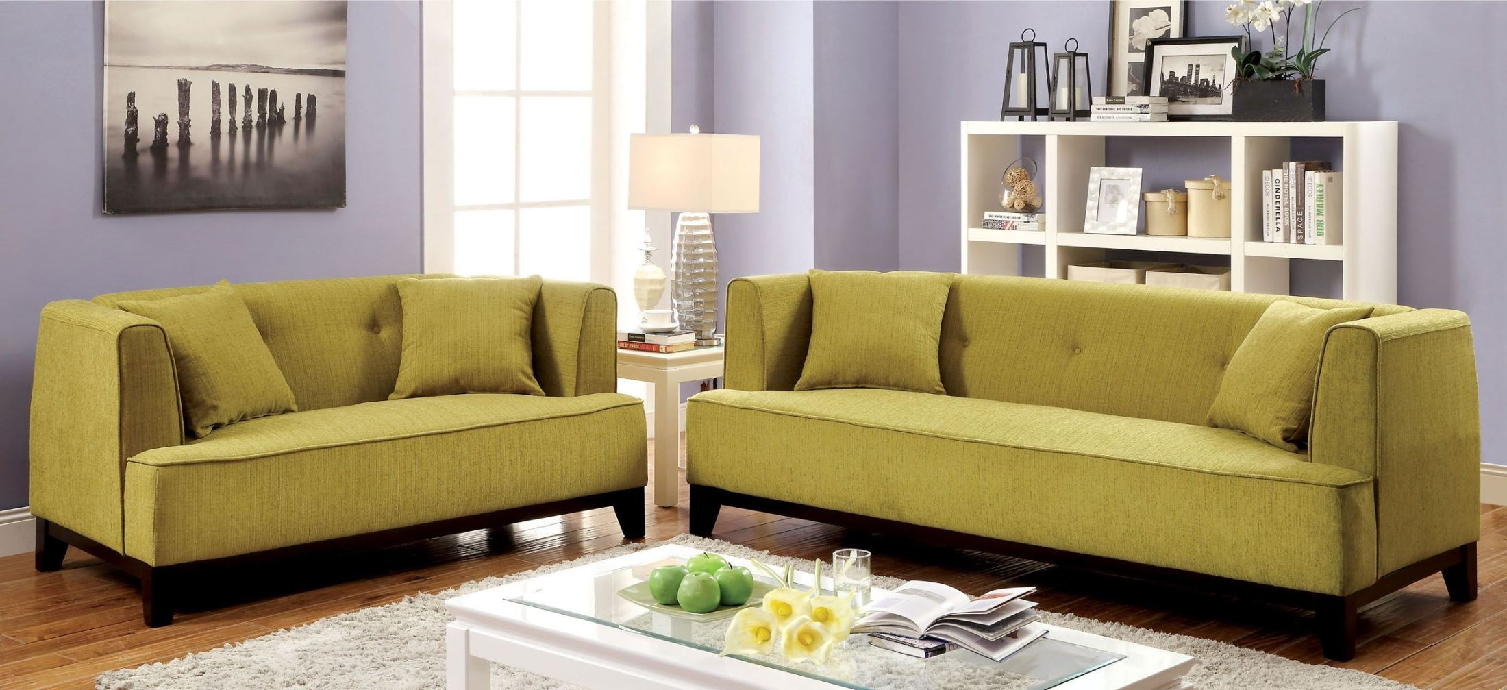 Sofia lemongrass living room set from furniture of america for Furniture of america customer service