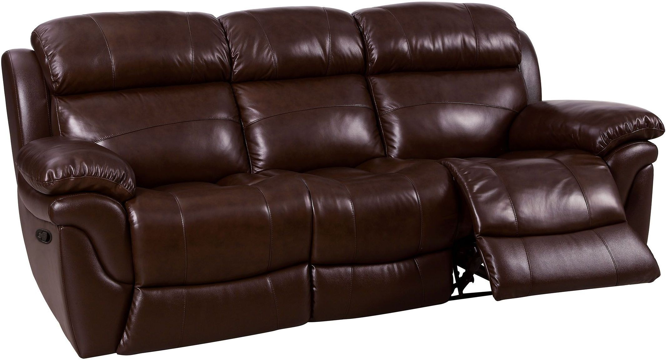 justine brown leather reclining sofa cm6784 sf furniture of america. Black Bedroom Furniture Sets. Home Design Ideas