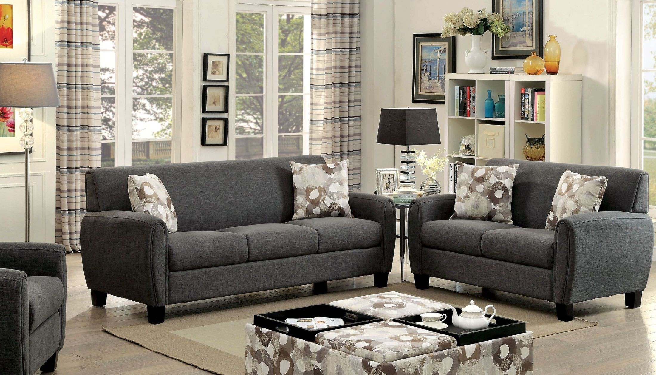 liana gray living room set cm6792 sf pk furniture of america