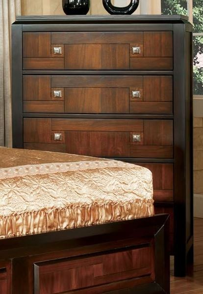 Patra acacia and walnut panel bedroom set from furniture for American black walnut bedroom furniture