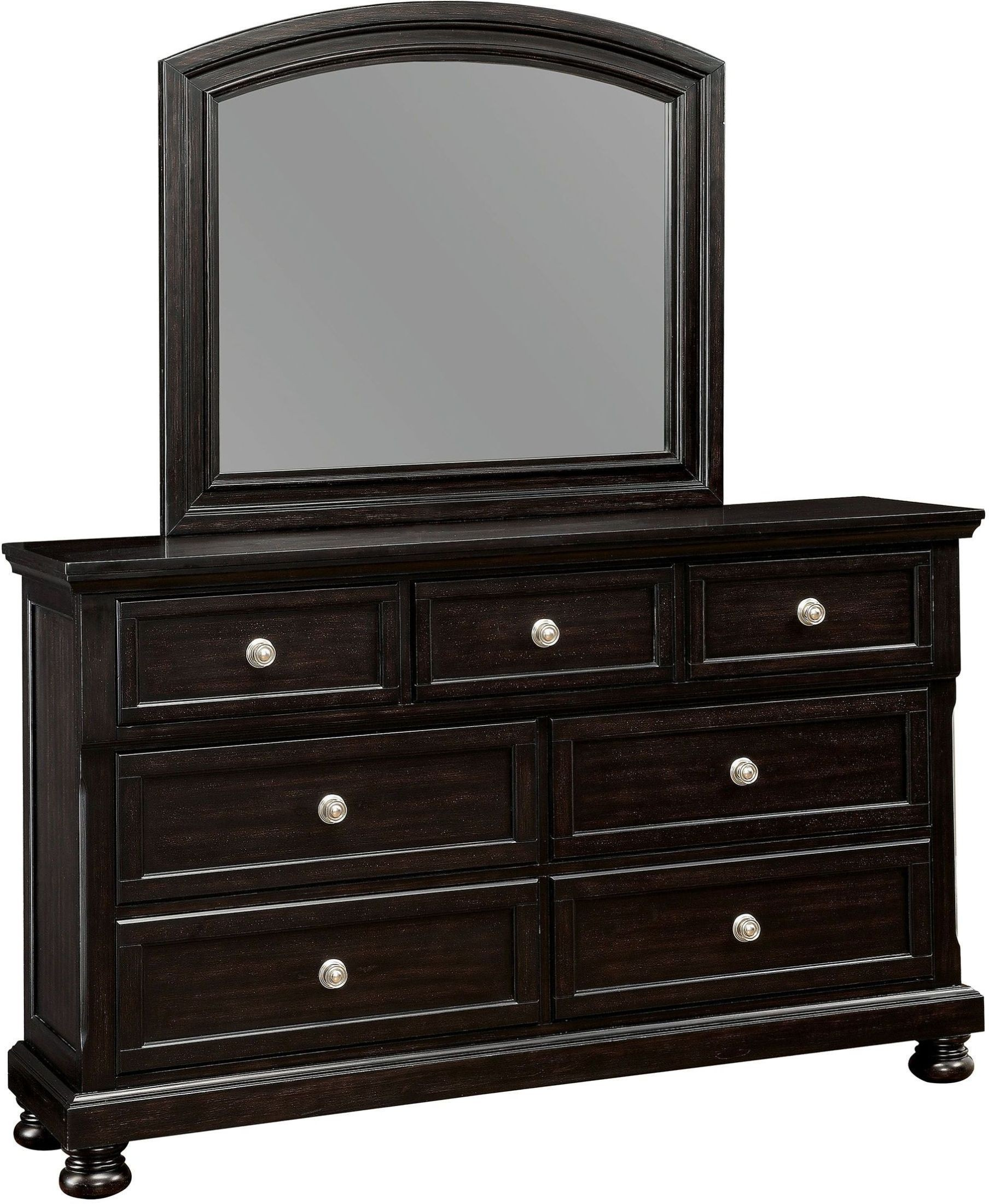 Argusville Espresso Sleigh Storage Bedroom Set CM7381Q Furniture of America