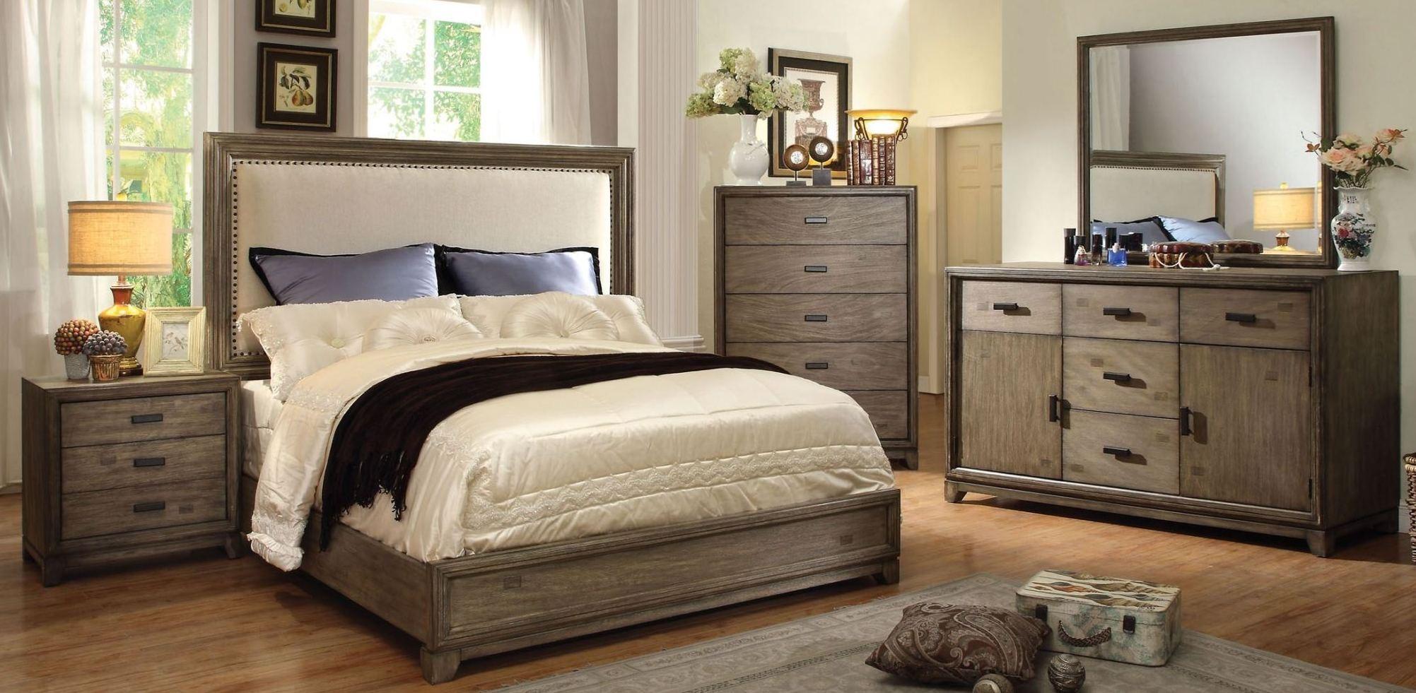 Antler natural ash bedroom set from furniture of america