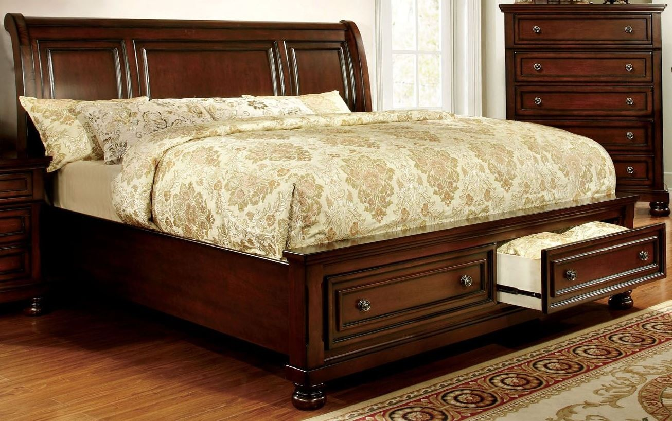... Platform Storage Bed from Furniture of America (CM7683EK-BED