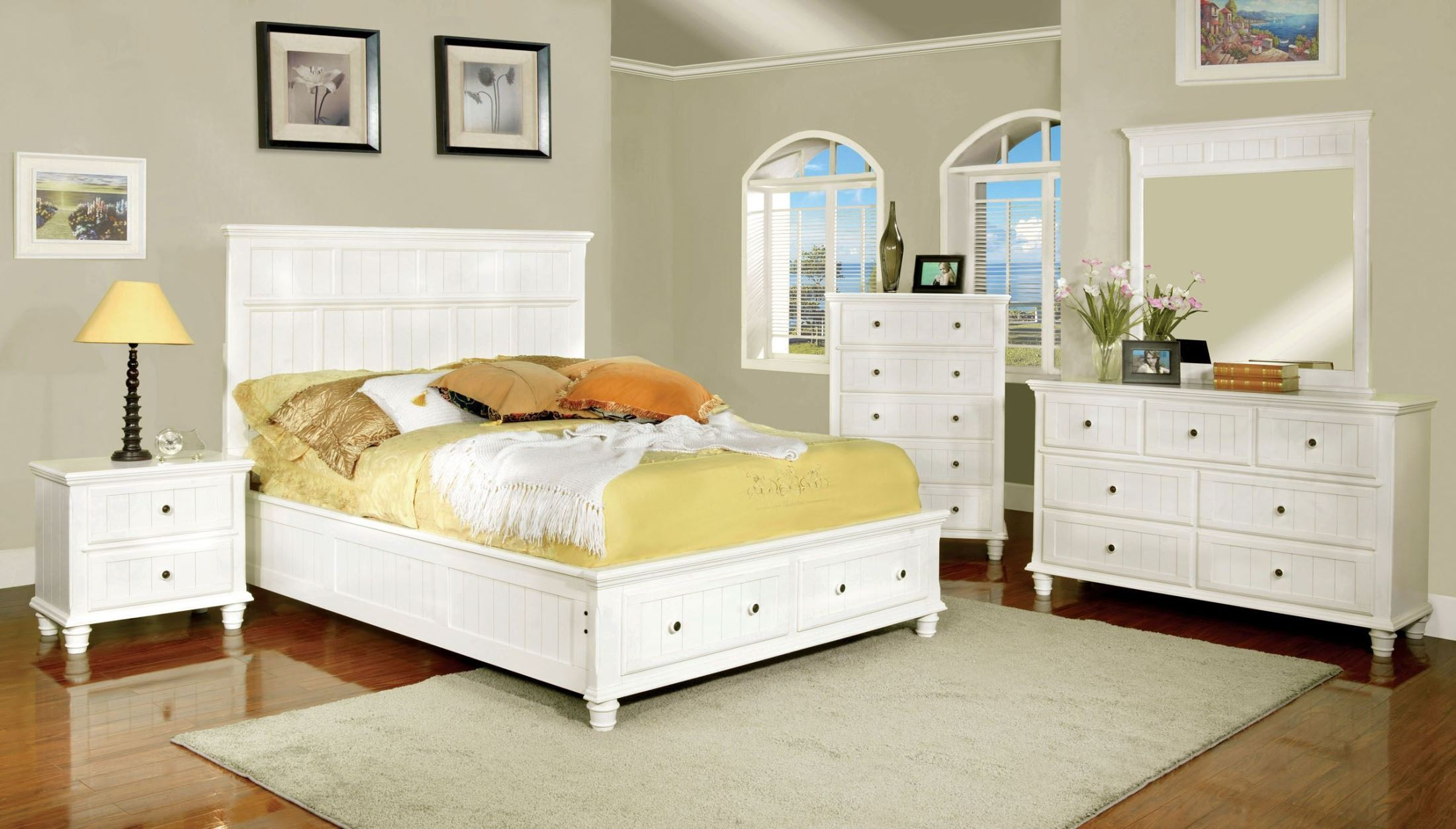 Willow creek white youth platform storage bedroom set from for White bedroom set with storage