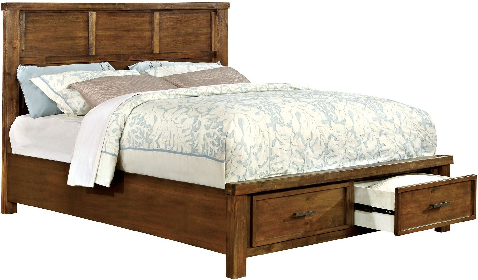 baddock antique oak panel storage bedroom set cm7692q furniture of