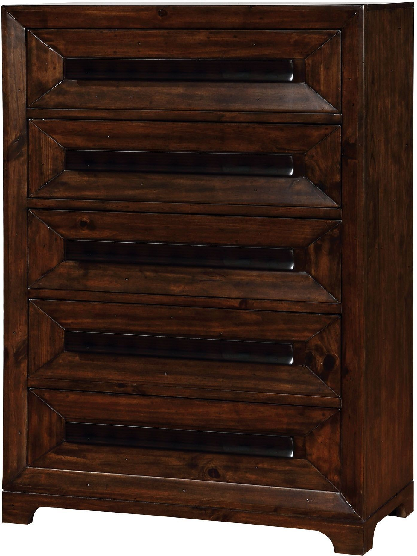 Orlaith walnut panel storage bedroom set cm7697q for American black walnut bedroom furniture