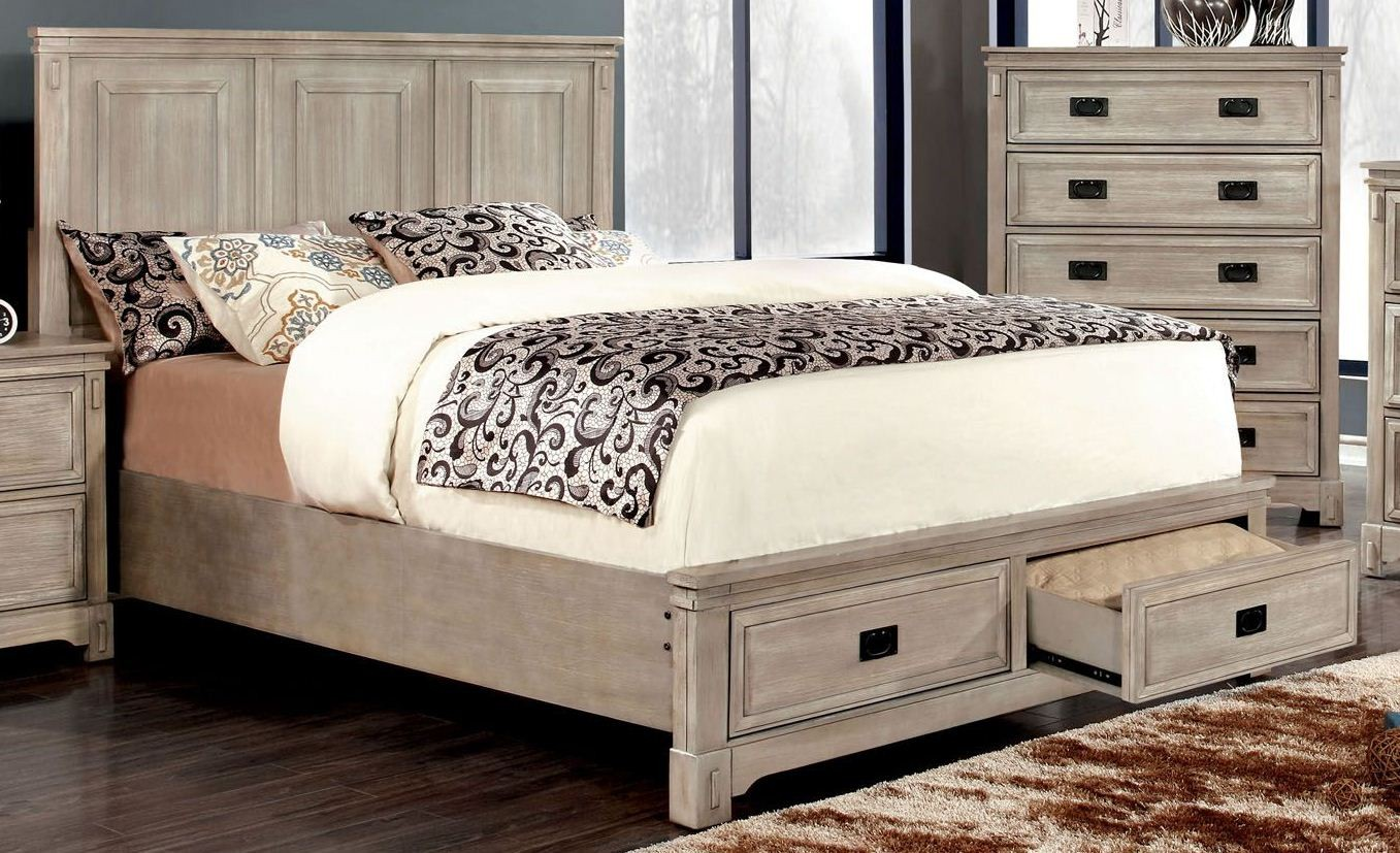 palomino rustic natural cal king platform storage bed from furniture of america cm7778ck bed. Black Bedroom Furniture Sets. Home Design Ideas