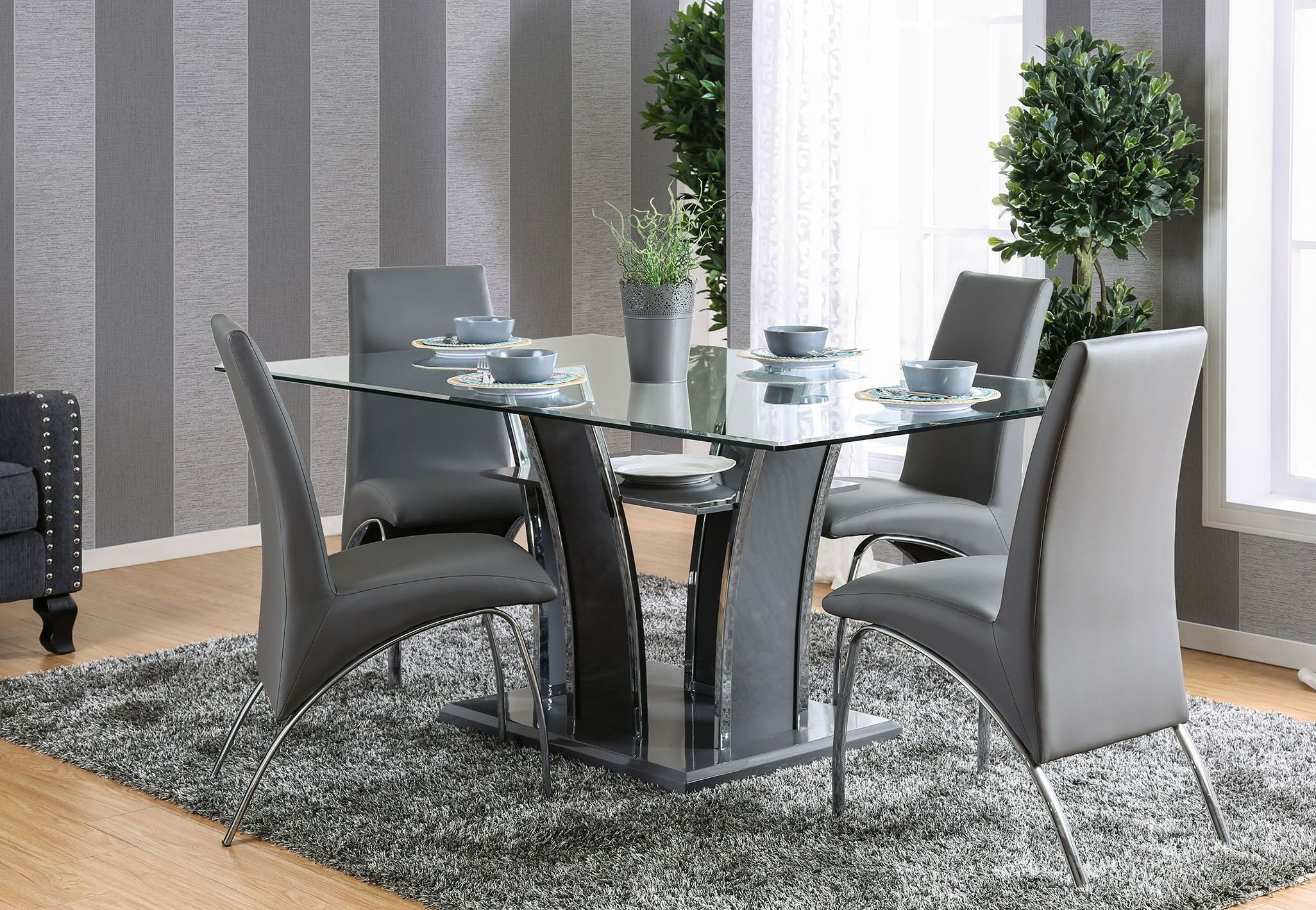 Glenview I Gray Rectangular Dining Room Set, CM8372GY-T ...