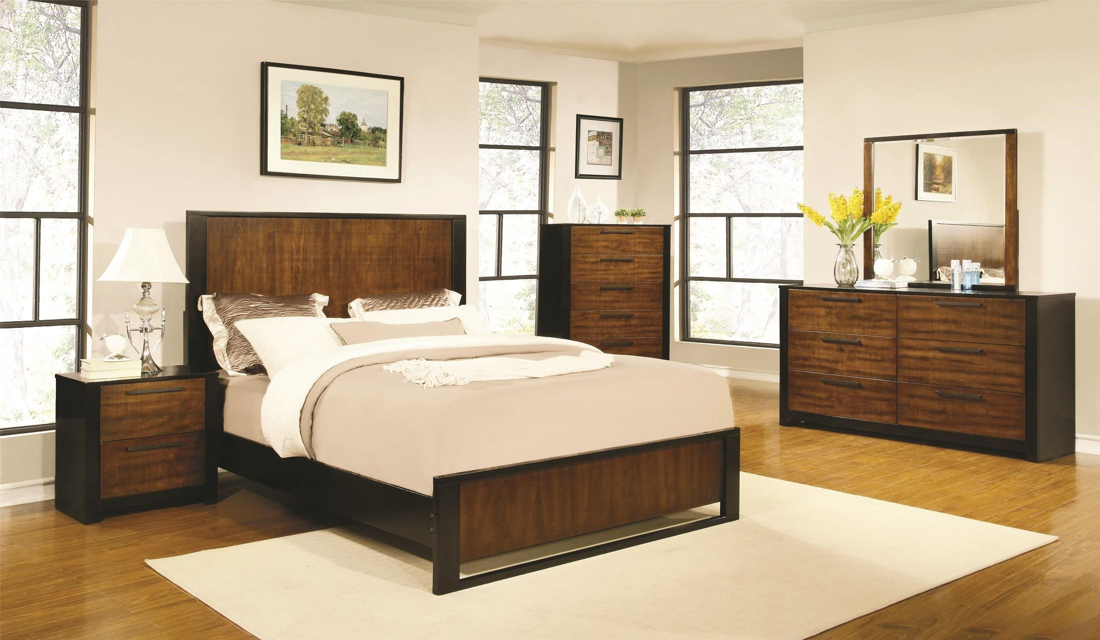 Coronado Natural Cherry Low Profile Bedroom Set From Coaster 203941Q Cole