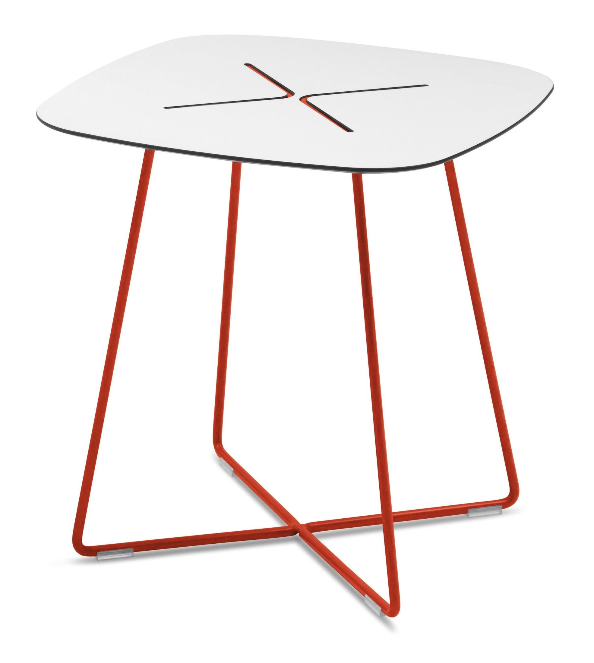 Cross Red Frame Low Square Coffee Table From Domitalia CROSS