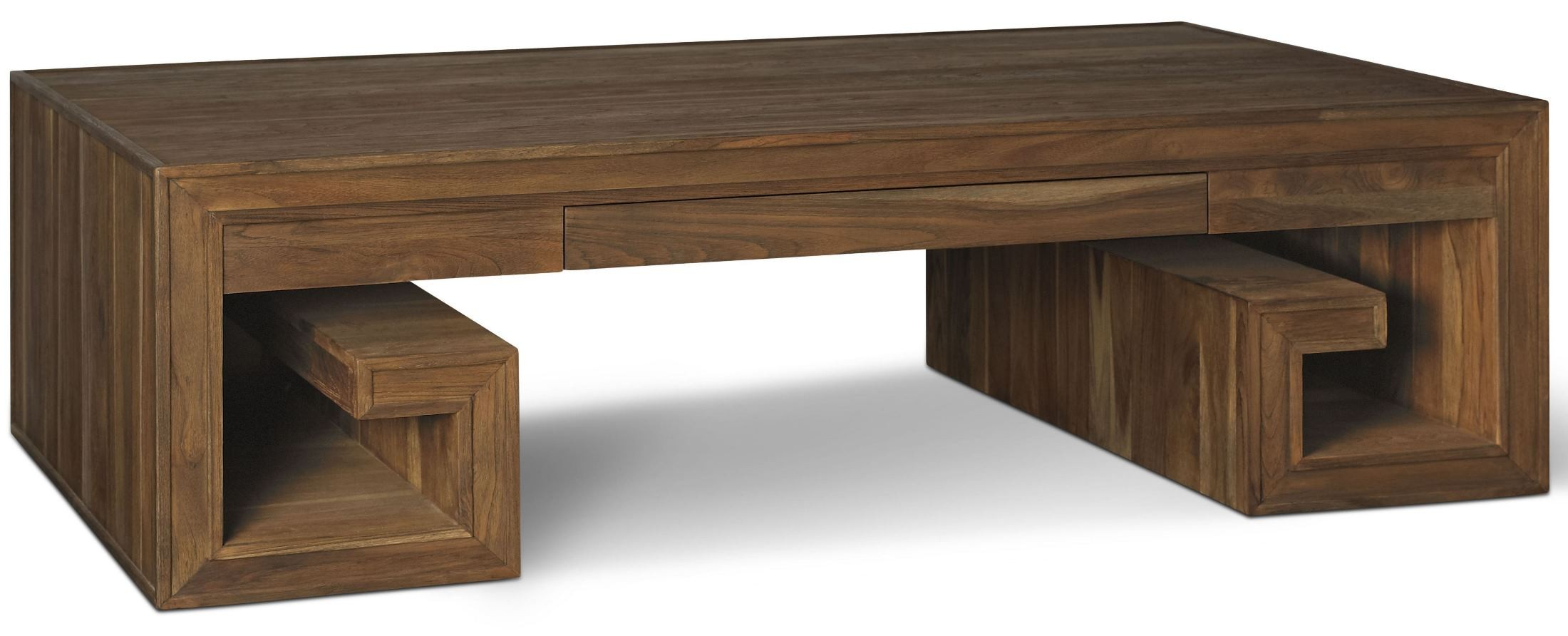 Crawford Sepia Greek Key Coffee Table Cw504 Brownstone