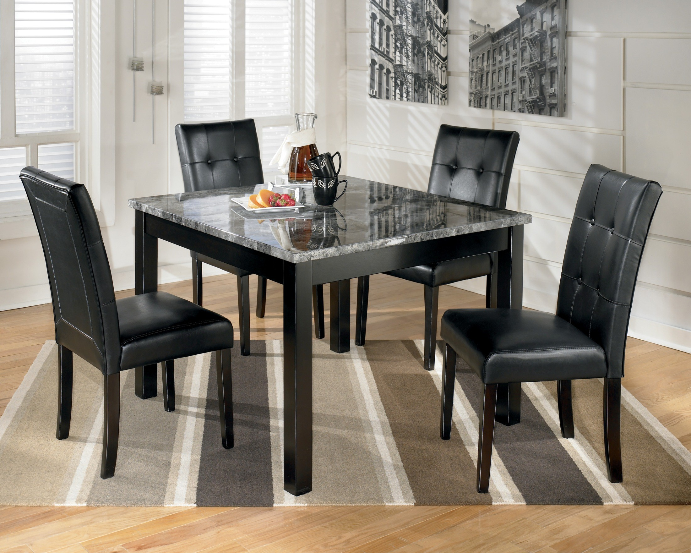 Granite Kitchen Table Sets Maysville Square Dining Room Table Set From Ashley D154 225