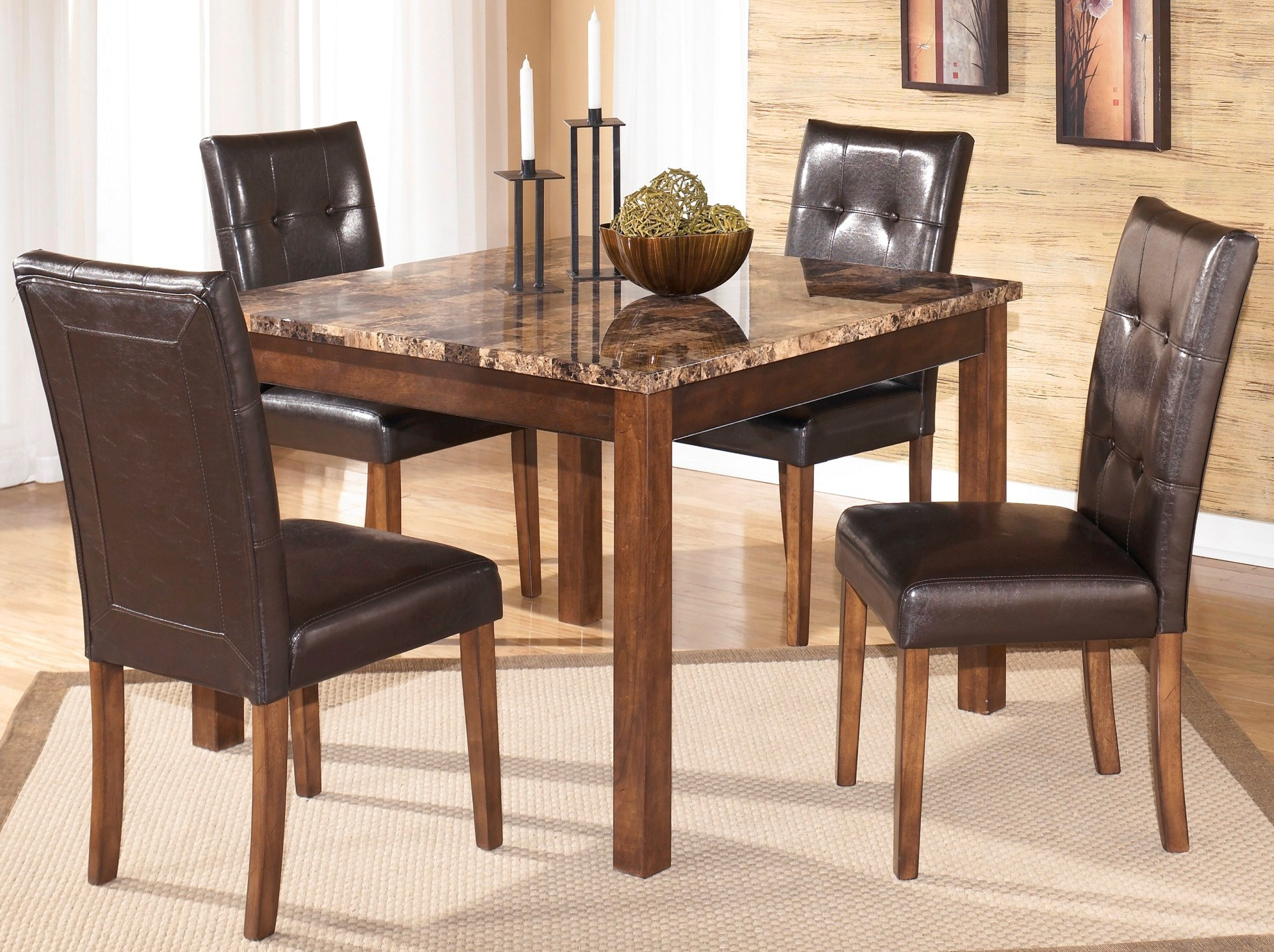 theo square dining room set from ashley d158 225