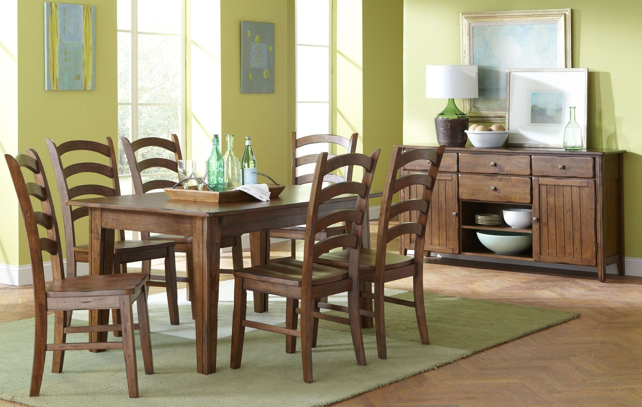 Overland Extendable Rectangular Dining Room Set D293 31 Largo Furniture