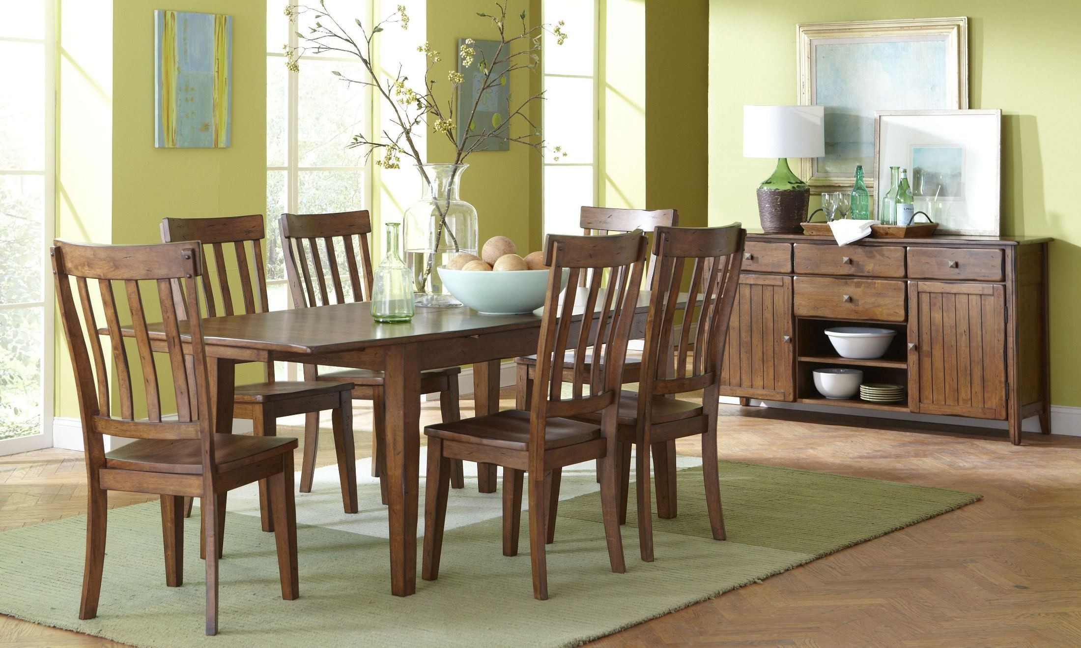 Distressed dining room table sets
