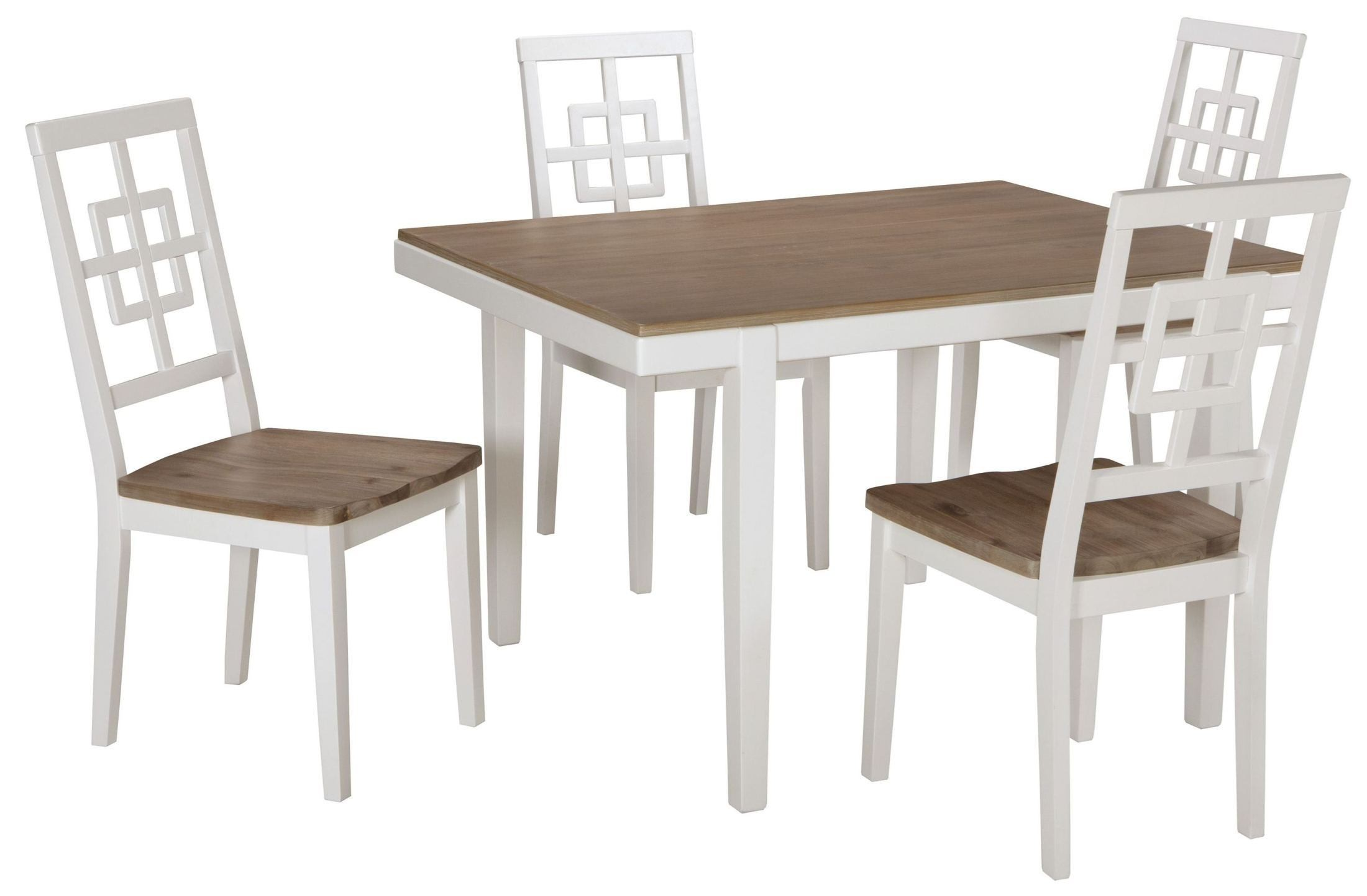 Brovada two tone rectangular dining room set d298 225 ashley for 2 tone dining room sets